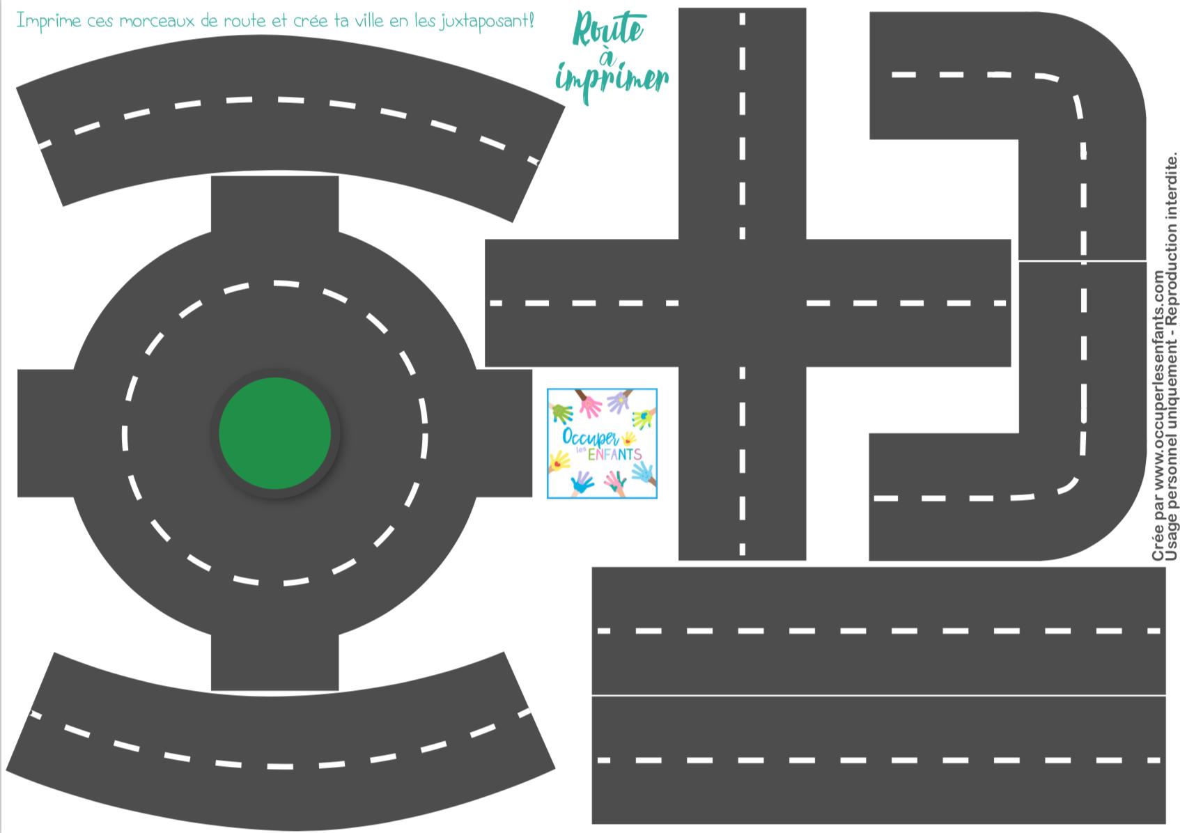 DIY: Route en papier à imprimer (Printable)