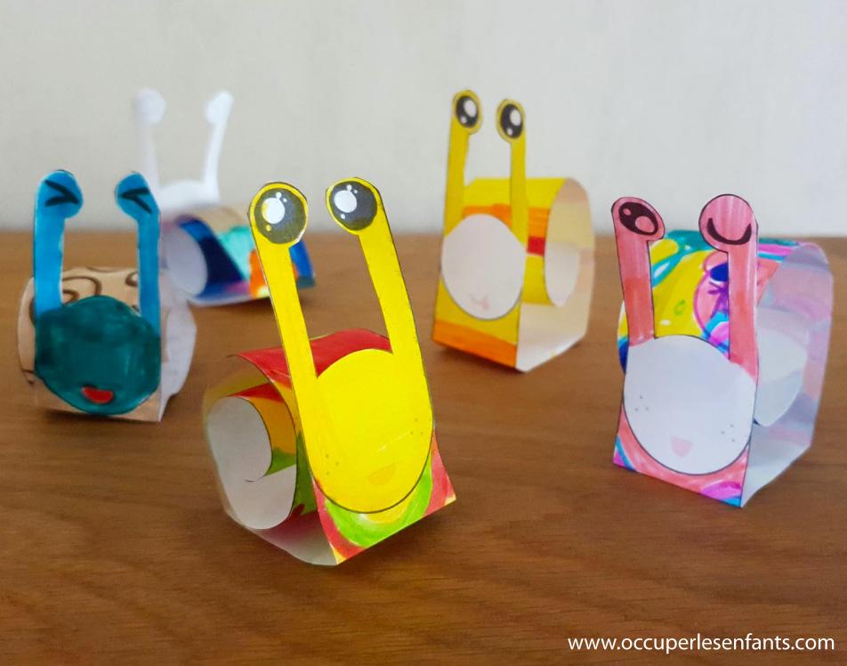DIY: Escargots en Papier à imprimer (Printable)