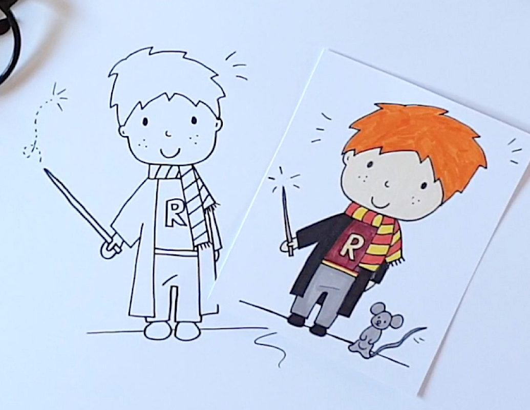 Comment dessiner Ron Weasley?