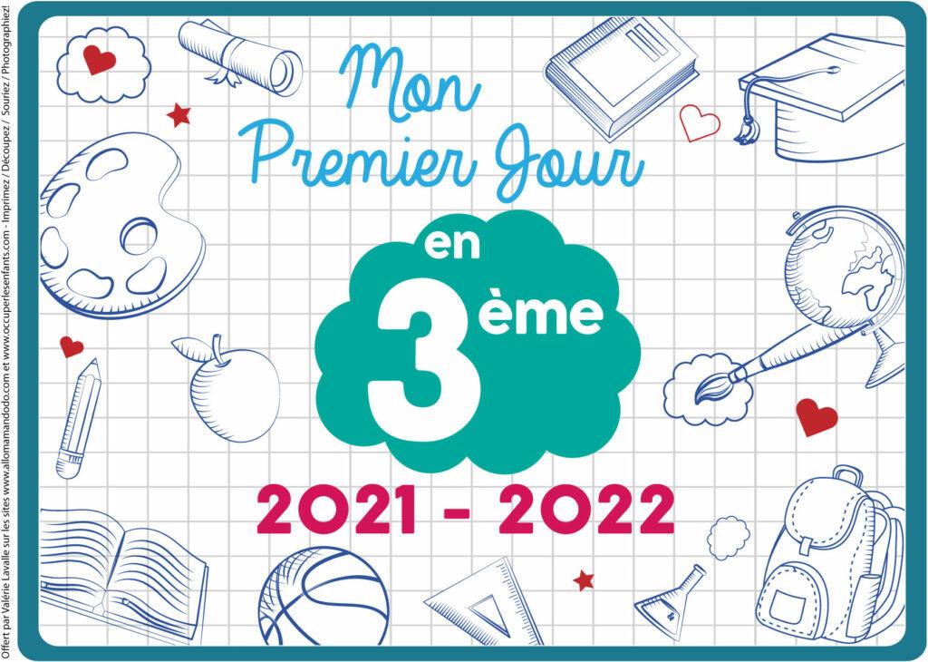 FICHE PREMIER JOUR 3ÈME 2021 2022