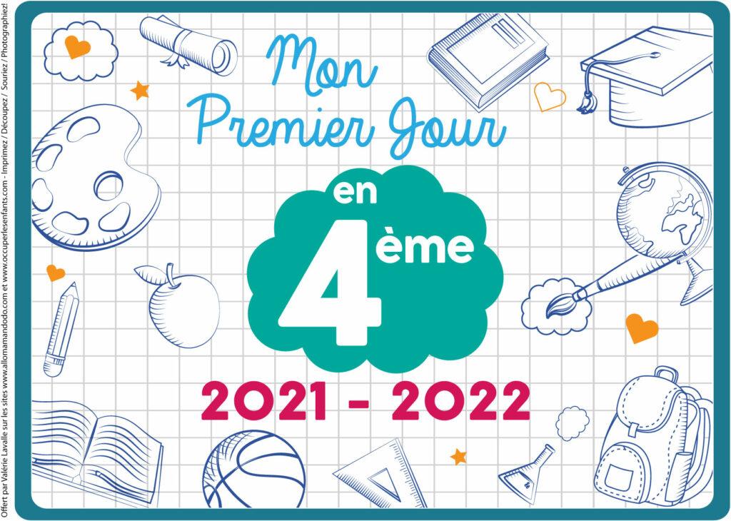 FICHE PREMIER JOUR 4ÈME 2021 2022