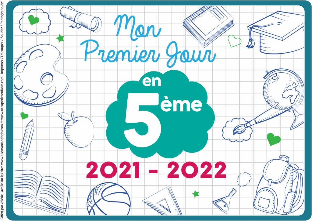 FICHE PREMIER JOUR 5ÈME 2021 2022
