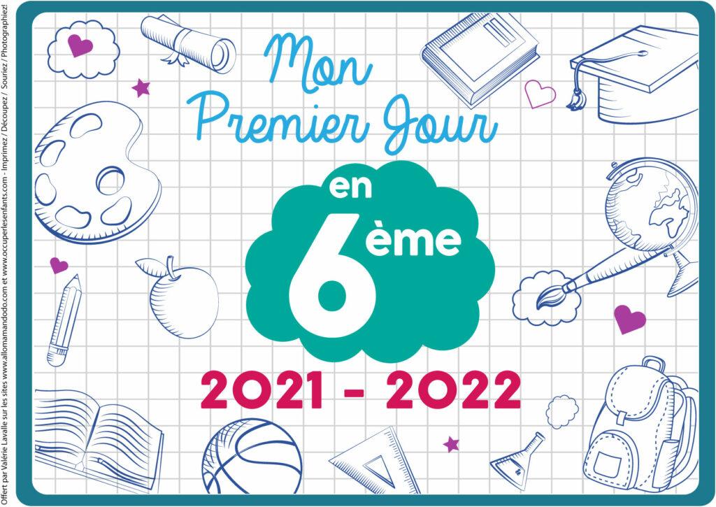 FICHE PREMIER JOUR 6ÈME 2021 2022