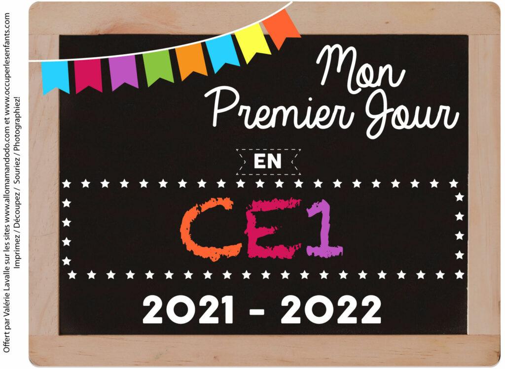 FICHE PREMIER JOUR CE1 2021 2022