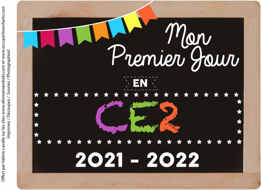 FICHE PREMIER JOUR CE2 2021 2022