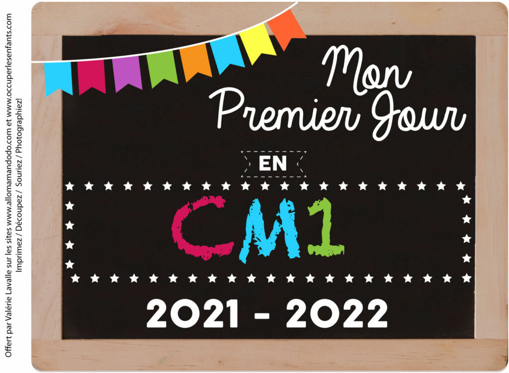 FICHE PREMIER JOUR CM1 2021 2022