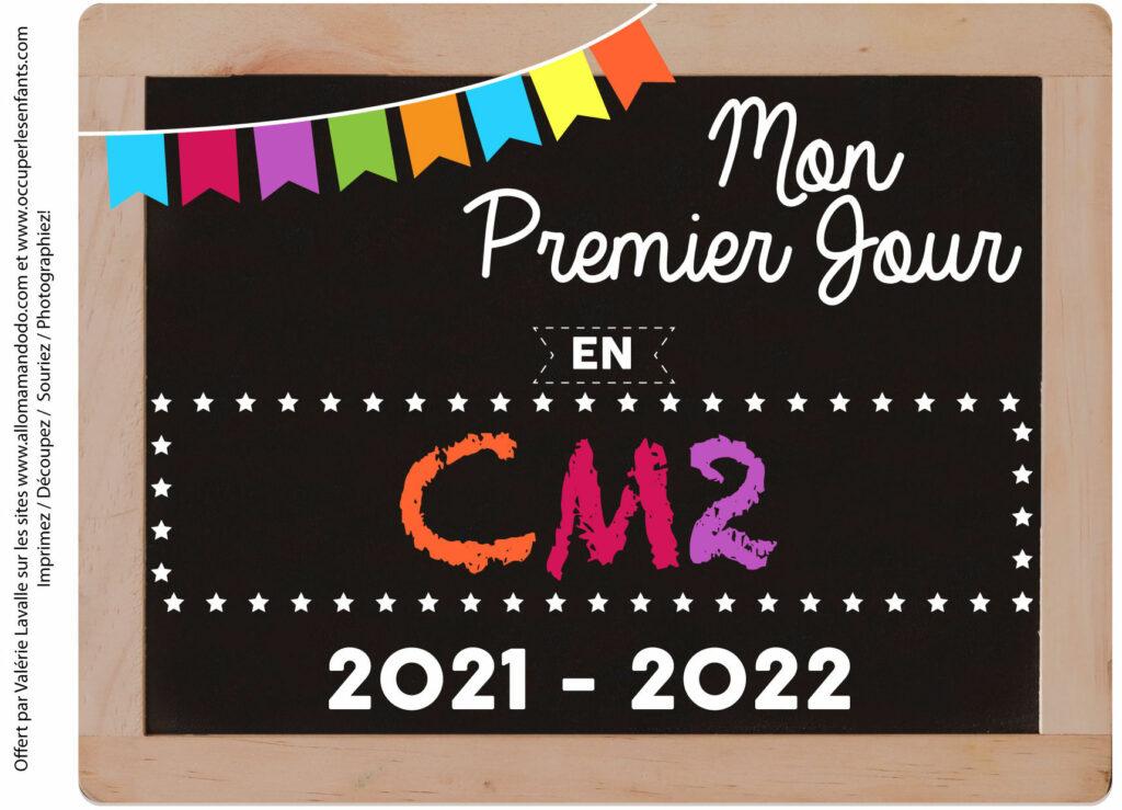 FICHE PREMIER JOUR CM2 2021 2022