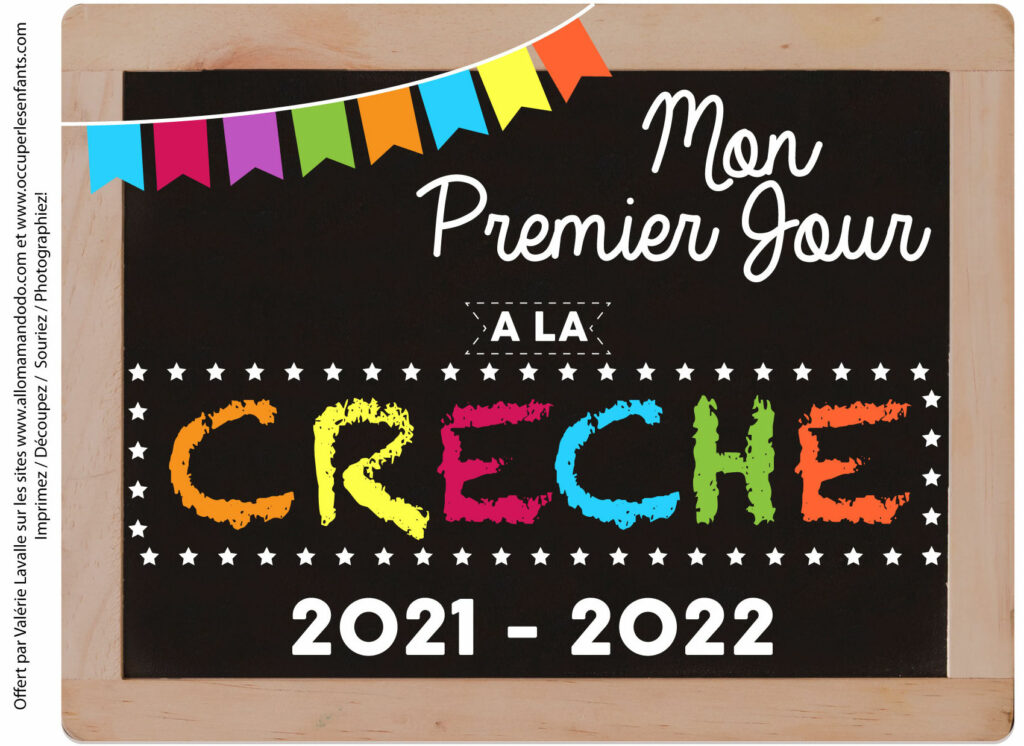 FICHE PREMIER JOUR CRECHE 2021 2022