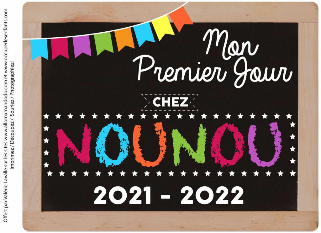 FICHE PREMIER JOUR NOUNOU 2021 2022