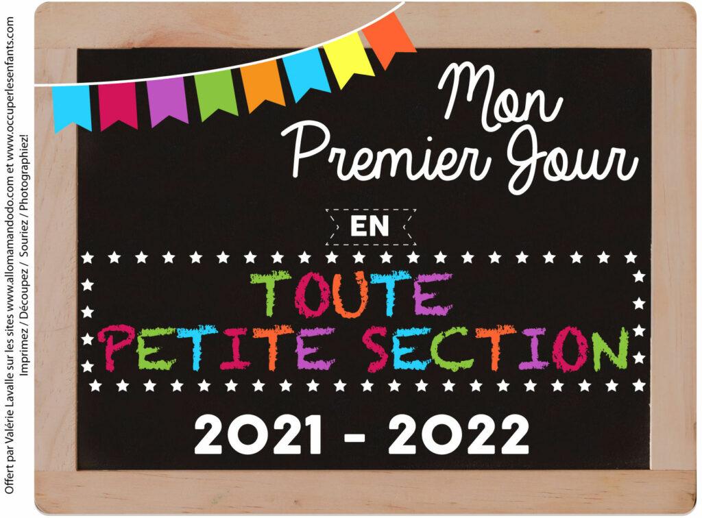 FICHE PREMIER JOUR TPS 2021 2022